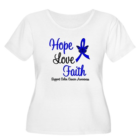 ColonCancer HopeLoveFaith Women's Plus Size Scoop
