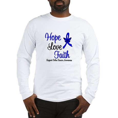 ColonCancer HopeLoveFaith Long Sleeve T-Shirt