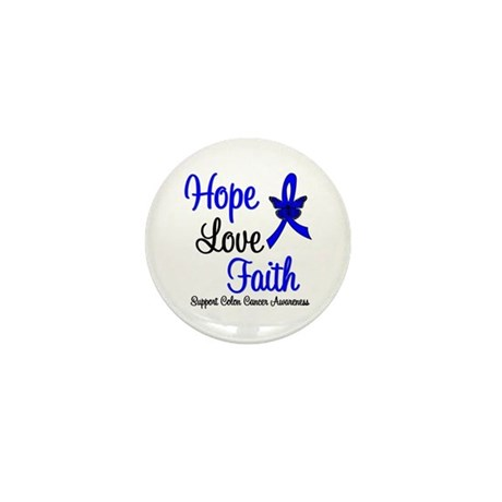 ColonCancer HopeLoveFaith Mini Button (10 pack)