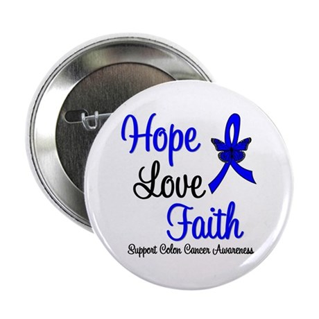 "ColonCancer HopeLoveFaith 2.25"" Button (10 pack)"