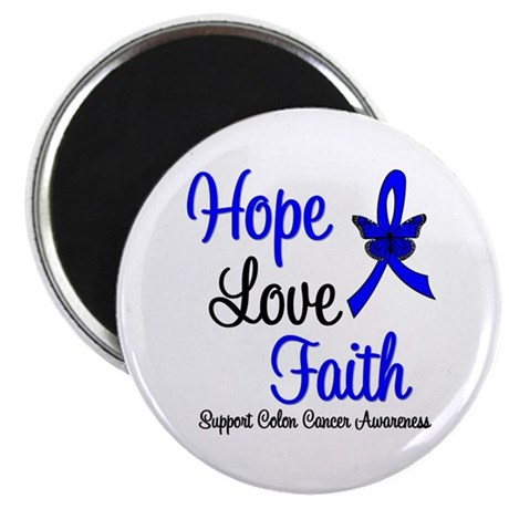 "ColonCancer HopeLoveFaith 2.25"" Magnet (100 pack)"