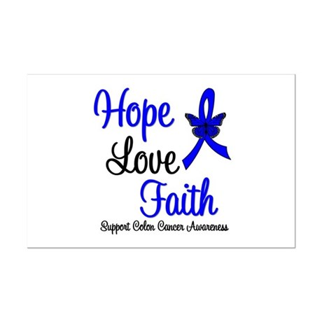 ColonCancer HopeLoveFaith Mini Poster Print