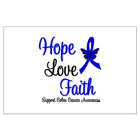ColonCancer HopeLoveFaith Large Poster