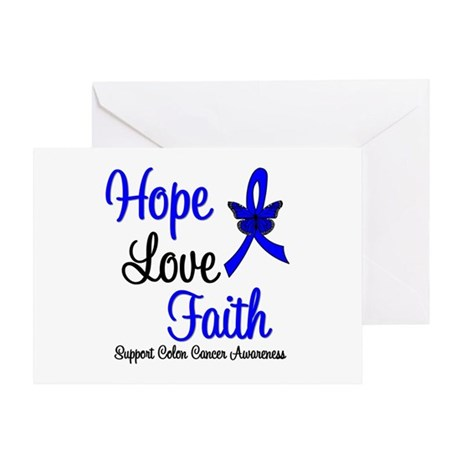ColonCancer HopeLoveFaith Greeting Card