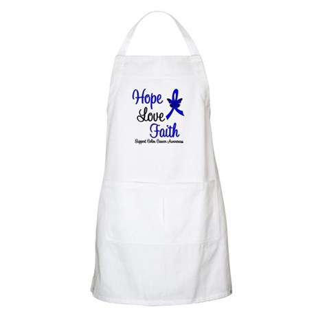 ColonCancer HopeLoveFaith BBQ Apron