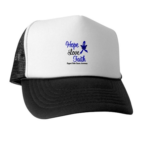 ColonCancer HopeLoveFaith Trucker Hat