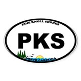 Pine Knoll Shores NC Oval Decal