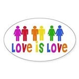 Love is Love Oval Decal