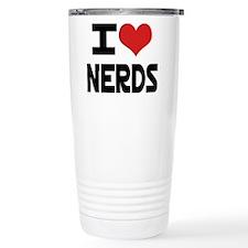 I Heart Nerds Travel Mug