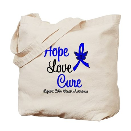 ColonCancer HopeLoveCure Tote Bag