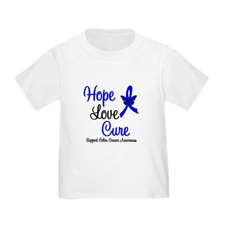 ColonCancer HopeLoveCure Toddler T-Shirt