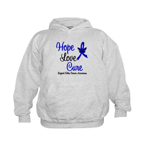 ColonCancer HopeLoveCure Kids Hoodie