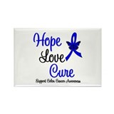 ColonCancer HopeLoveCure Rectangle Magnet (10 pack