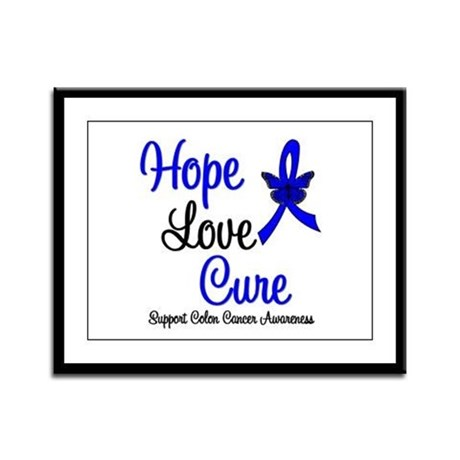 ColonCancer HopeLoveCure Framed Panel Print