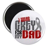 "I Wear Grey For My Dad 6 2.25"" Magnet (10 pack)"