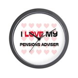 I Love My Pensions Adviser Wall Clock