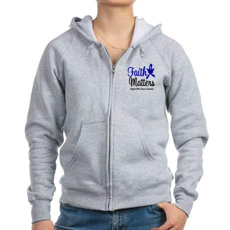 Colon Cancer Faith Matters Women's Zip Hoodie