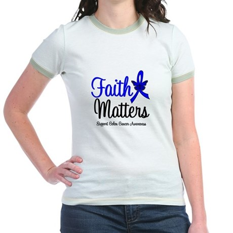 Colon Cancer Faith Matters Jr. Ringer T-Shirt