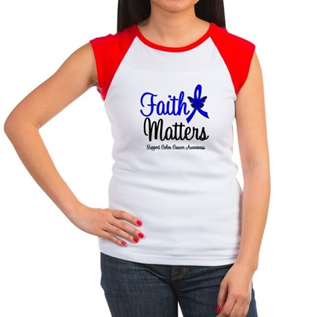 Colon Cancer Faith Matters Women's Cap Sleeve T-Sh