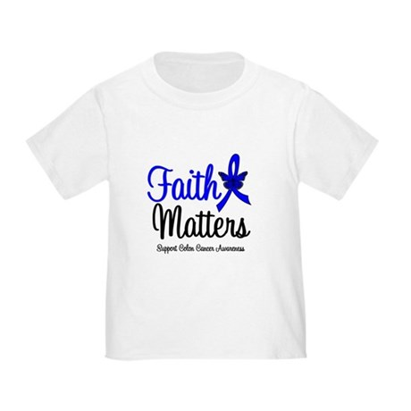 Colon Cancer Faith Matters Toddler T-Shirt