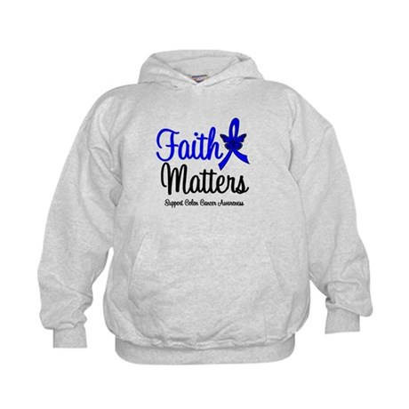 Colon Cancer Faith Matters Kids Hoodie