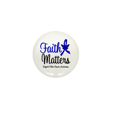 Colon Cancer Faith Matters Mini Button (10 pack)