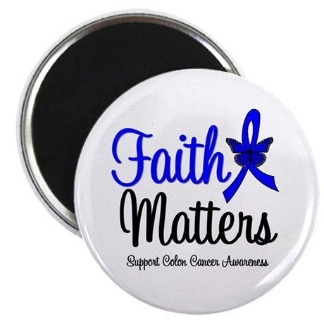 "Colon Cancer Faith Matters 2.25"" Magnet (100 pack)"