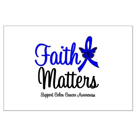 Colon Cancer Faith Matters Large Poster