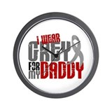 I Wear Grey For My Daddy 6 Wall Clock