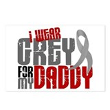 I Wear Grey For My Daddy 6 Postcards (Package of 8