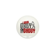 I Wear Grey For My Daddy 6 Mini Button (10 pack)