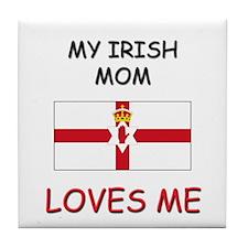 My Israeli Mom Loves Me Tile Coaster