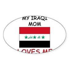My Israeli Mom Loves Me Oval Decal