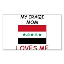 My Israeli Mom Loves Me Rectangle Decal