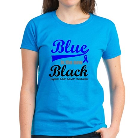 ColonCancerBlueTheNewBlack Women's Dark T-Shirt