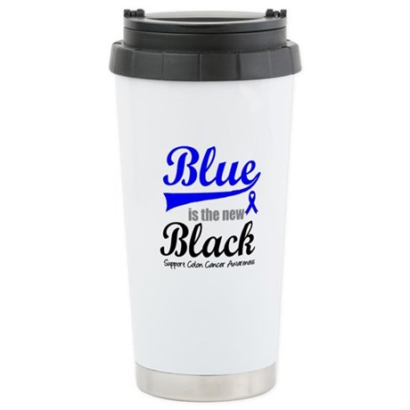 ColonCancerBlueTheNewBlack Ceramic Travel Mug