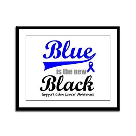 ColonCancerBlueTheNewBlack Framed Panel Print