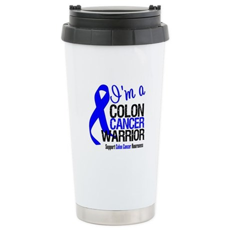 I'm a Colon Cancer Warrior Ceramic Travel Mug