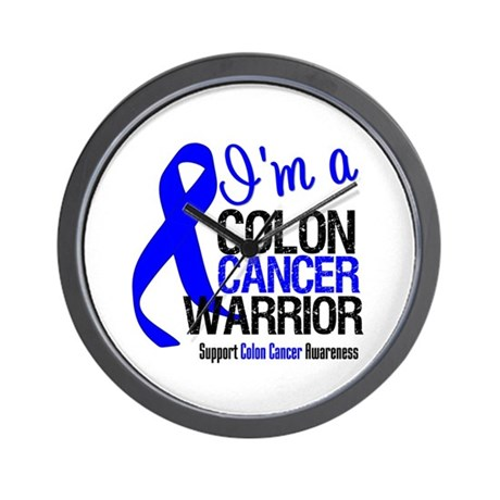 I'm a Colon Cancer Warrior Wall Clock