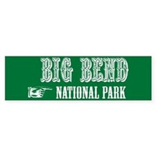 Big Bend Western Flair Bumper Bumper Sticker