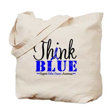Colon Cancer Think Blue Tote Bag