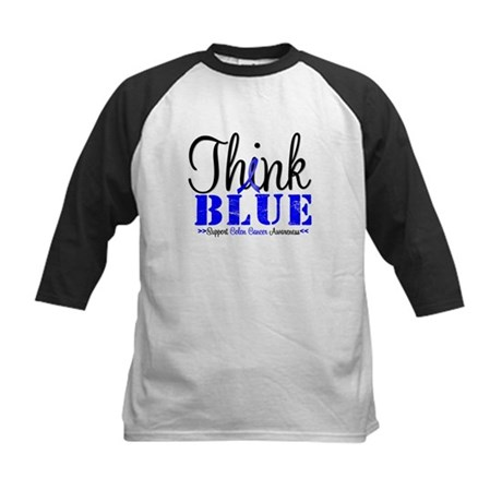 Colon Cancer Think Blue Kids Baseball Jersey