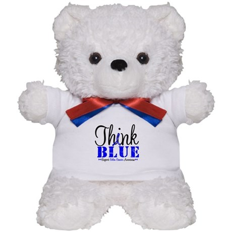 Colon Cancer Think Blue Teddy Bear