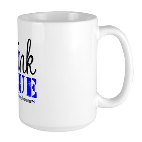 Colon Cancer Think Blue Large Mug