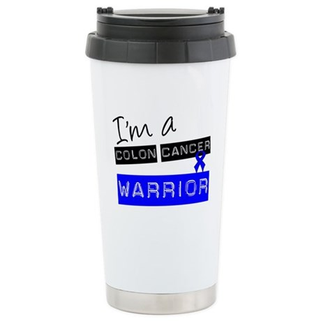 Colon Cancer Warrior Ceramic Travel Mug