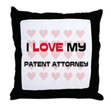 I Love My Patent Attorney Throw Pillow