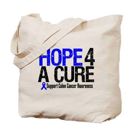 Colon Cancer Hope 4 a Cure Tote Bag