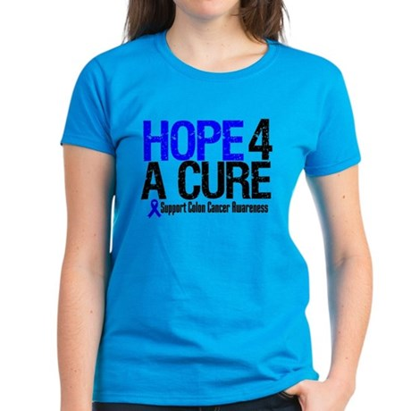 Colon Cancer Hope 4 a Cure Women's Dark T-Shirt