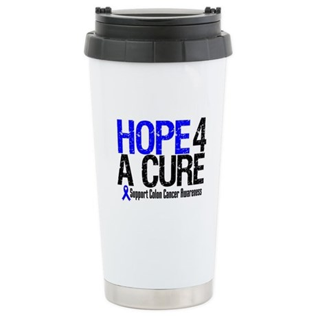 Colon Cancer Hope 4 a Cure Ceramic Travel Mug