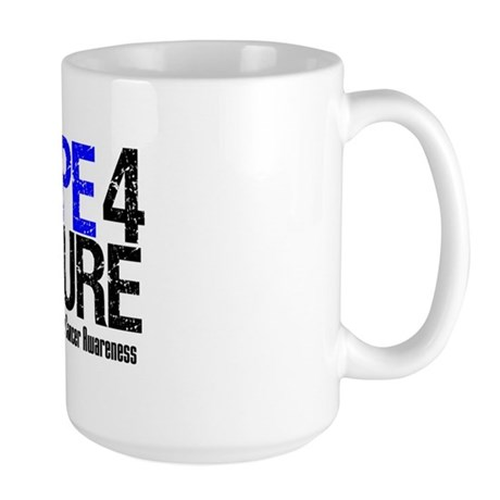 Colon Cancer Hope 4 a Cure Large Mug